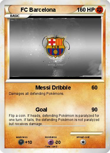 Pokémon FC Barcelona 24 24 - Messi Dribble - My Pokemon Card