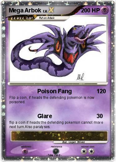 Arbok Card Pokémon Mega Arbo...