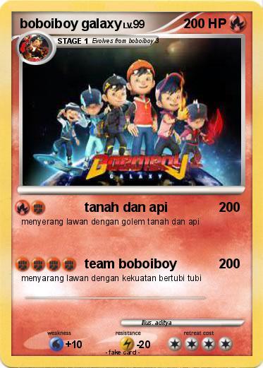 pok233mon boboiboy galaxy 1 1 tanah dan api my pokemon card