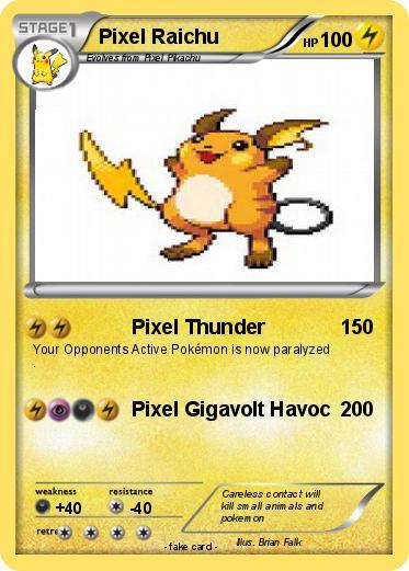 Pokemon Pixel Raichu 1