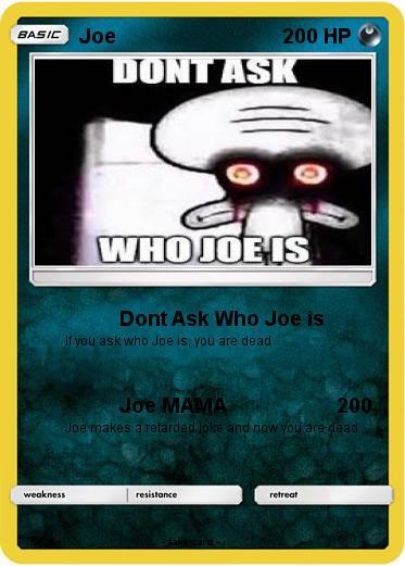 Pokemon Joe 1064 I really have no clue who he is, and i'm wondering if any of you knew who joe was. pokemon joe 1064