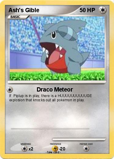 Pokémon Ash s Gible 4 4 - Draco Meteor - My Pokemon Card