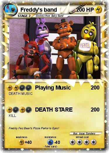 Pok 233 mon freddy s band 1 1 playing music my pokemon card