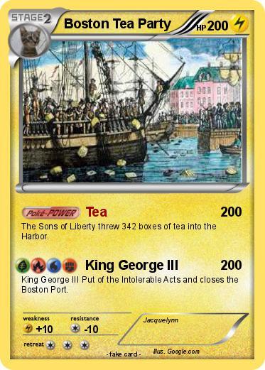 Pokémon Boston Tea Party 6 6 - Tea - My Pokemon Card