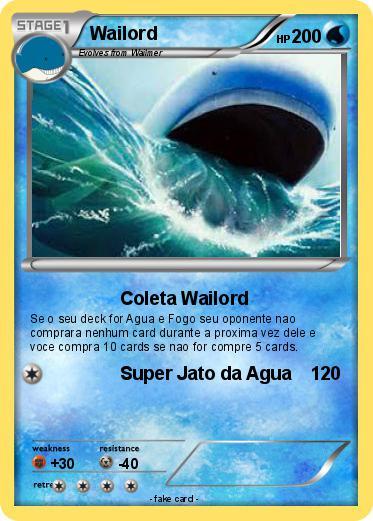 Pok mon wailord 1000 1000 coleta wailord my pokemon card - Pokemon x wailord ...