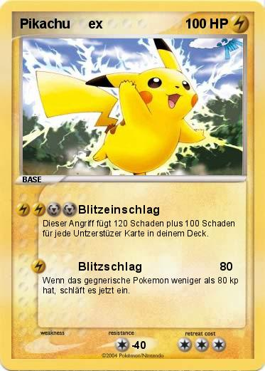 Pokemon Karten Pikachu Ex.Pokemon Pikachu Ex 94