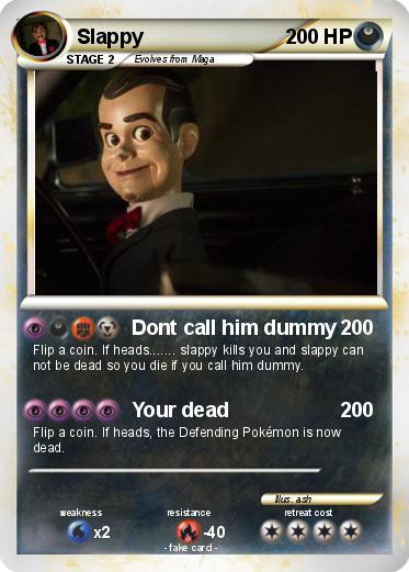 Pokémon Slappy 84 84 - Dont call him dummy - My Pokemon Card Wailmer Pokemon Card