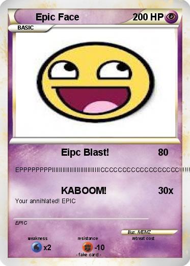 epic face pokemon card images pokemon images