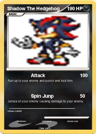 Pok mon shadow the hedgehog 302 302 attack my pokemon card - Shadow the hedgehog pokemon ...