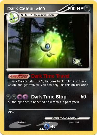 Dark Celebi Card Pokémon Dark C...