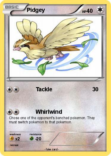 Pokémon Pidgey 182 182 - Tackle - My Pokemon Card