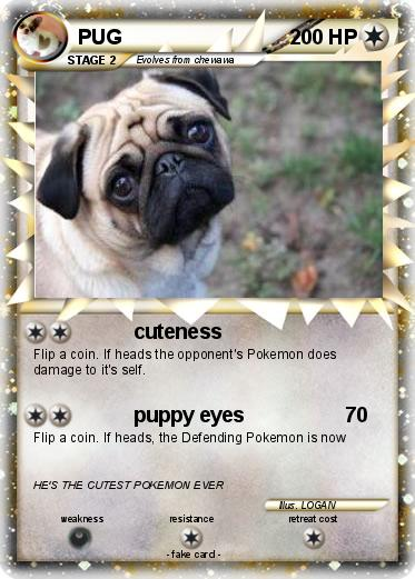 Pokmon PUG 49 Cuteness My Pokemon Card