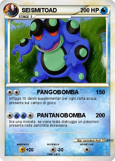 Pokémon SEISMITOAD 10 10 - FANGOBOMBA - My Pokemon Card