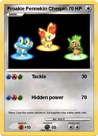 Froakie Pokemon Card
