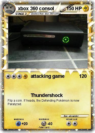 Pokemon Games For Xbox 1 : Pokémon xbox consol attacking game my pokemon card