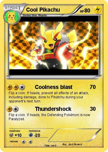 Pokemon card The human Torchs Pikachu