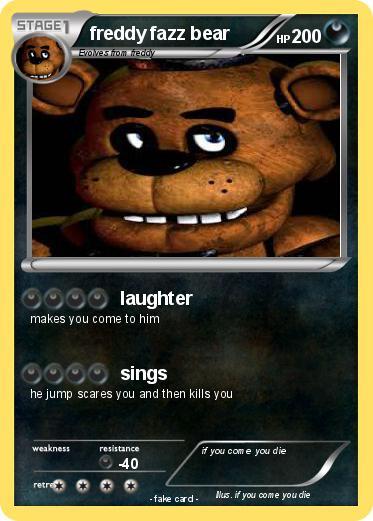 Pok 233 mon freddy fazz bear laughter my pokemon card