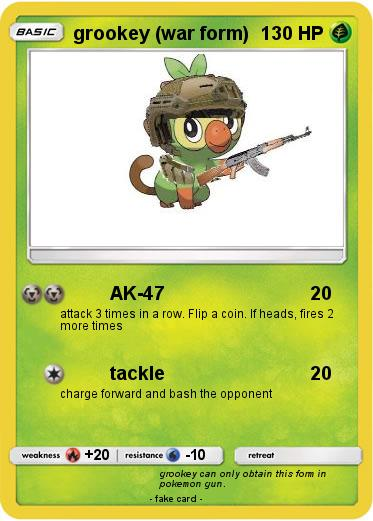 Pokemon Grookey War Form Grookey is one of the starter pokémon available for you to pick at the beginning of your adventure in pokémon sword & shield, alongside scorbunny and sobble. pokemon grookey war form