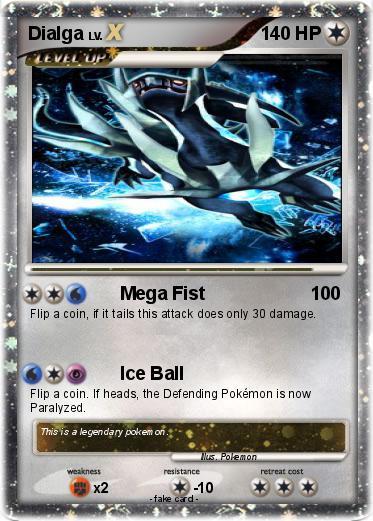 Pokémon Dialga 6780 6780 - Mega Fist - My Pokemon Card