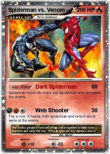 Pok mon Spiderman vs Venom Dark