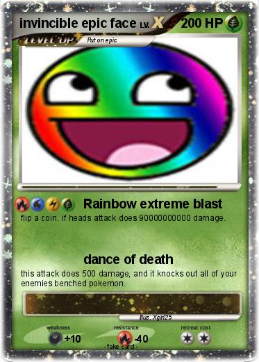 epic face pokemon card quotes