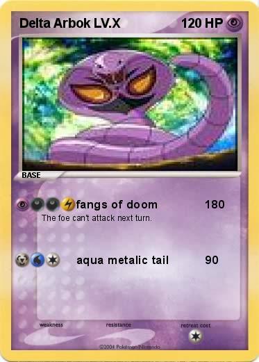 Arbok Card Pokemon Delta Arbok LV X
