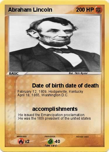 Abraham lincoln date of birth in Melbourne
