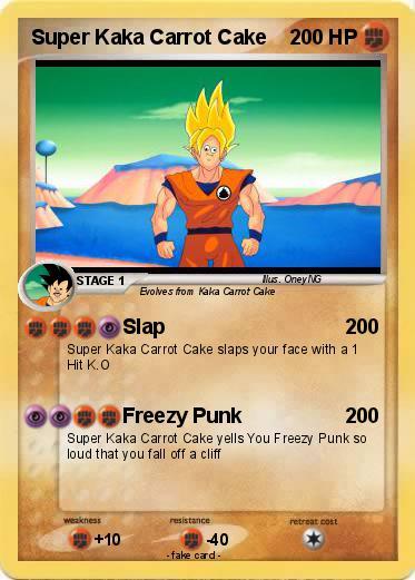 Pokémon Super Kaka Carrot Cake