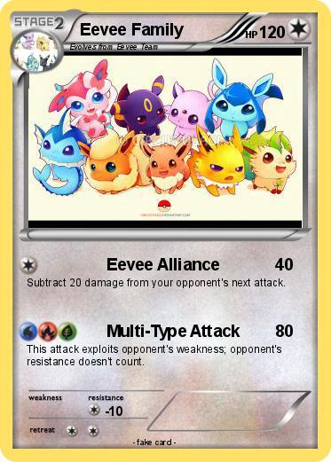 Pokemon Eevee Family Images