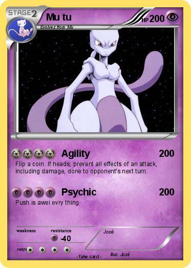 Pok mon mu tu agility my pokemon card - Pokemon miu two ...