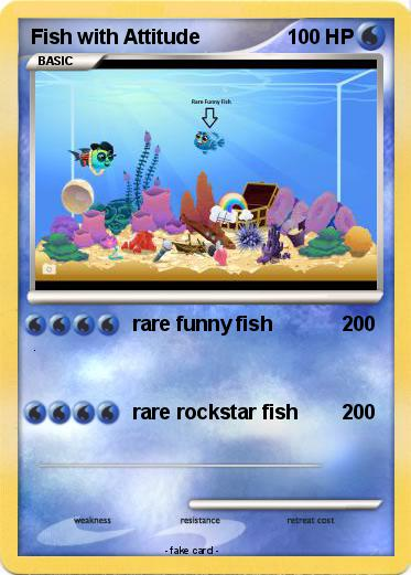 Pok mon fish with attitude rare funny fish my pokemon card for Fish with attitude egg chart
