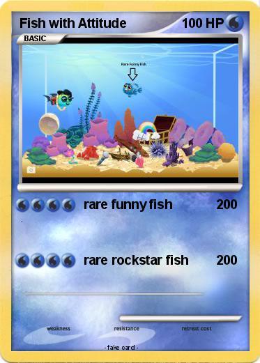Pok Mon Fish With Attitude Rare Funny Fish My Pokemon Card