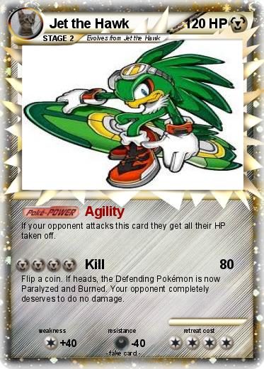 Pokémon Jet the Hawk 18 18 - Agility - My Pokemon Card