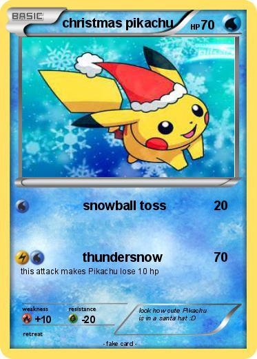 Christmas Pikachu.Pokemon Christmas Pikachu 45