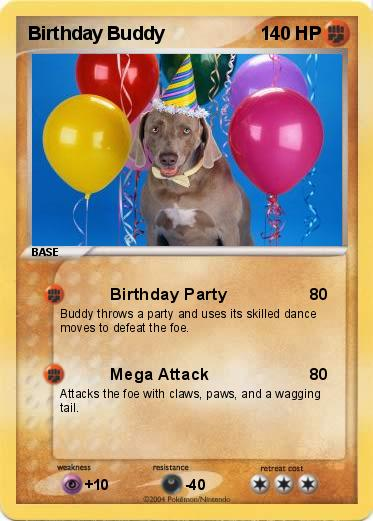 pokémon birthday buddy  birthday party  my pokemon card, Birthday card