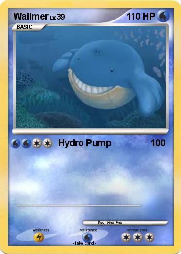 Pokémon Wailmer 103 103 - Hydro Pump - My Pokemon Card Wailmer Pokemon Card