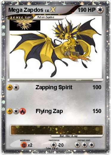 Pokémon Mega Zapdos 7 7 - Zapping Spirit - My Pokemon Card