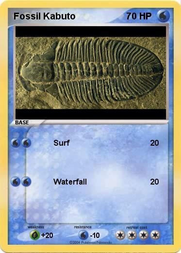 Pokémon Fossil Kabuto - Surf - My Pokemon Card  Kabuto Pokemon Fossil
