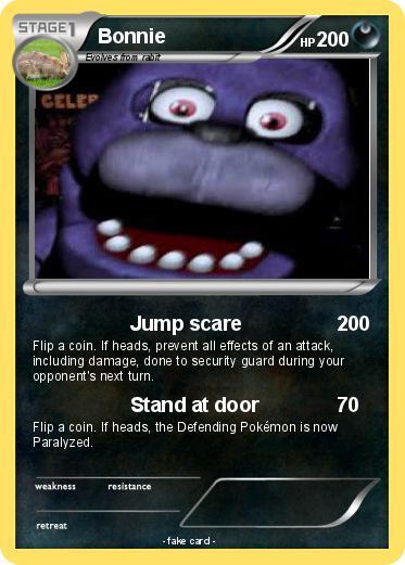 Pok 233 Mon Bonnie 94 94 Jump Scare My Pokemon Card