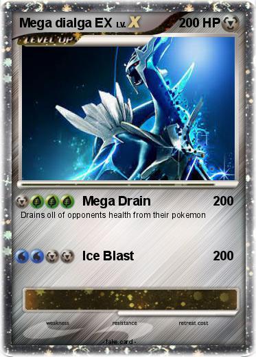 Pokémon Mega dialga EX 6 6 - Mega Drain - My Pokemon Card