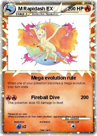 Pokémon M Rapidash EX 2 2 - Mega evolution rule - My ...