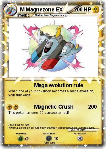 Pokémon M Magnezone EX 1 1 - Mega evolution rule - My ...
