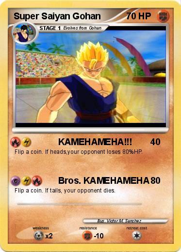 Name : Super Saiyan Gohan. Type : Fighting. Attack 1 : KAMEHAMEHA!