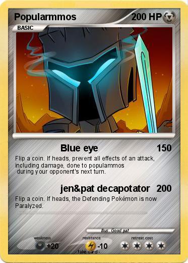 Pok 233 Mon Popularmmos 44 44 Blue Eye My Pokemon Card