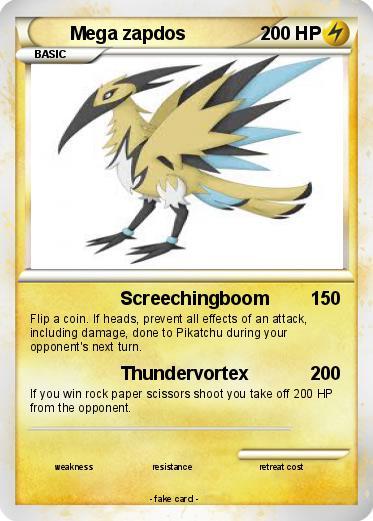 Pokémon Mega zapdos 4 4 - Screechingboom - My Pokemon Card