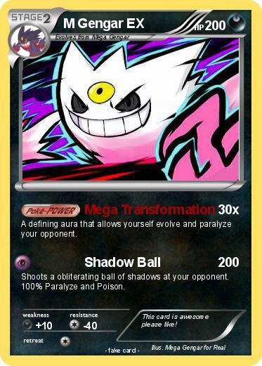 Pokemon Mega Gengar Ex Card Images | Pokemon Images