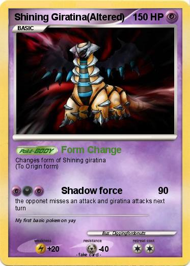 Shining Giratina Altered  Shiny Giratina Altered Form