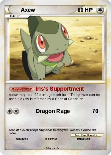 Pokémon Axew 118 118 - Iris's Supportment - My Pokemon Card