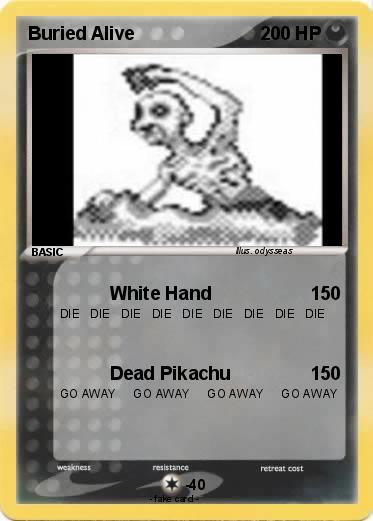 pok233mon buried alive 87 87 white hand my pokemon card