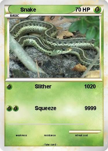 Pokémon Snake 135 135 - Slither 10 - My Pokemon Card